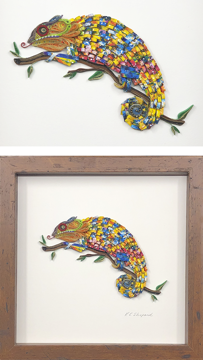Quilled Treasures - Chameleon No. 1