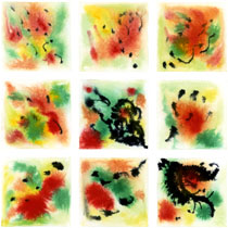 Abstract Watercolor: Grid Series