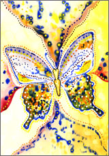 Butterflies & Dragonflies watercolor