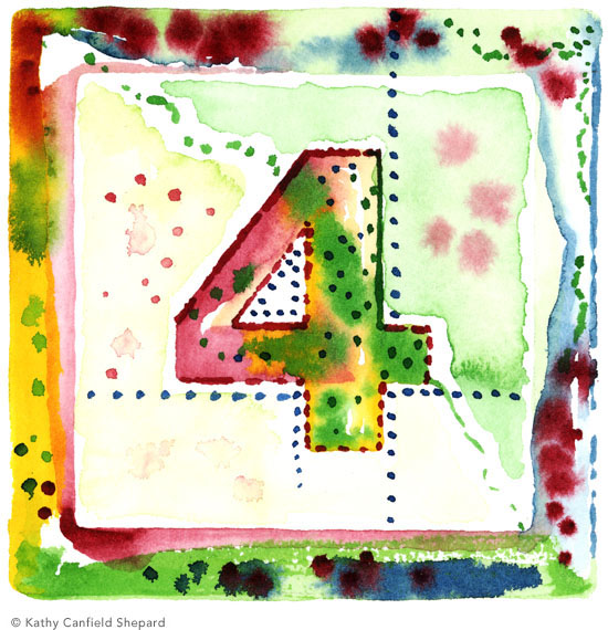 Children's Toy Blocks Watercolor